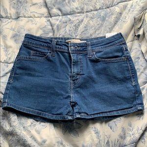 Levi's Denim High Rise Shorts